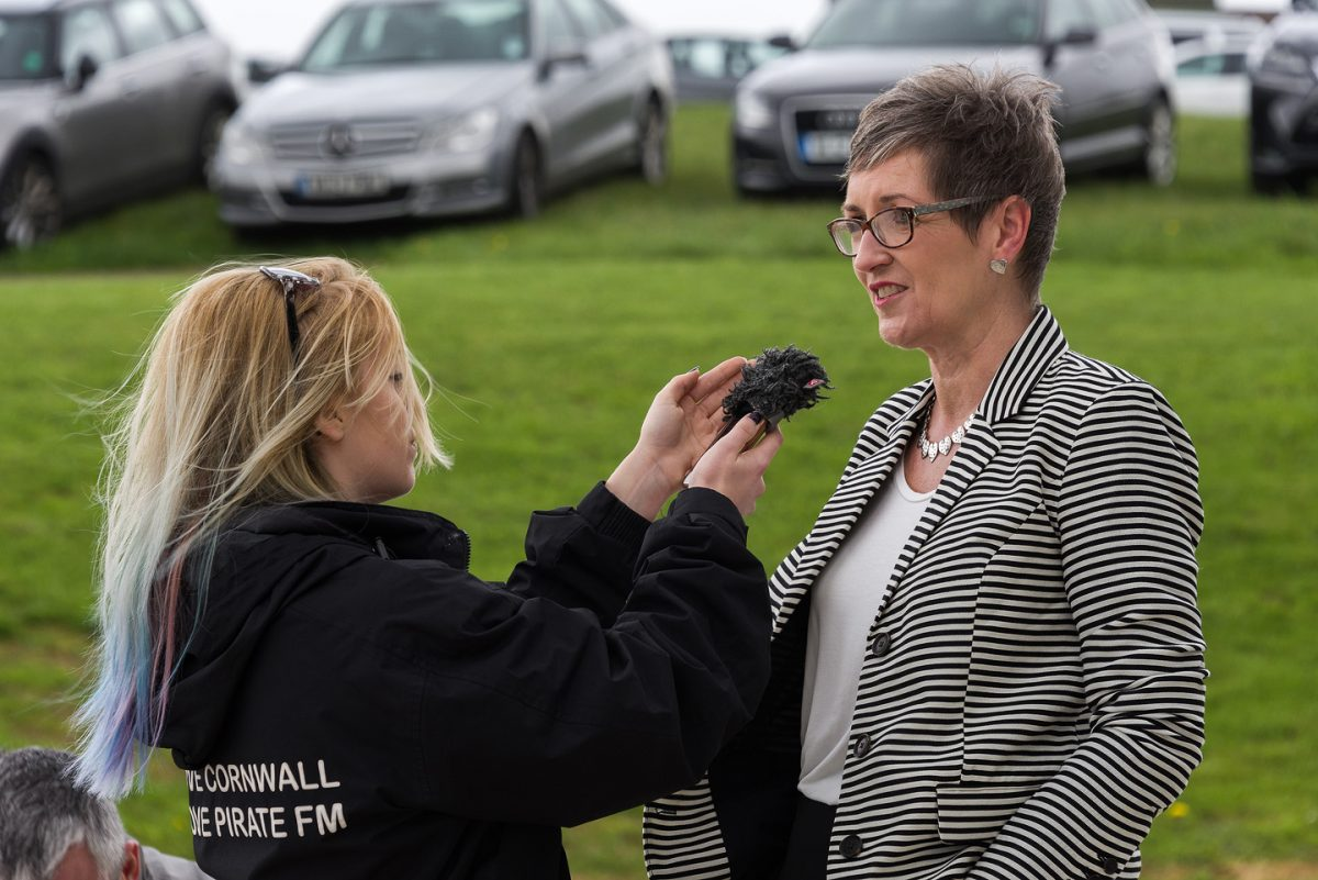 Cornwall Air Ambulance Trust Chair Sarah Pryce being interviewed for the charity's 30th anniversary. Pic by www.pr4photos.co.uk